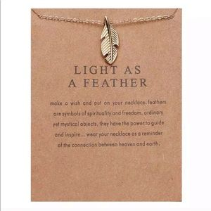 NEW!! ❤️ Light as a Feather Pendant Necklace